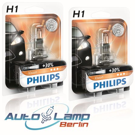 philips h1 12v 55w vision 30 mehr licht 2er set. Black Bedroom Furniture Sets. Home Design Ideas