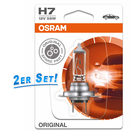 osram h7 lampe 12v 55w px26d original spare part 2er set 2. Black Bedroom Furniture Sets. Home Design Ideas
