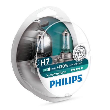 philips h7 x treme vision 130 mehr licht 2er set 12972xv. Black Bedroom Furniture Sets. Home Design Ideas