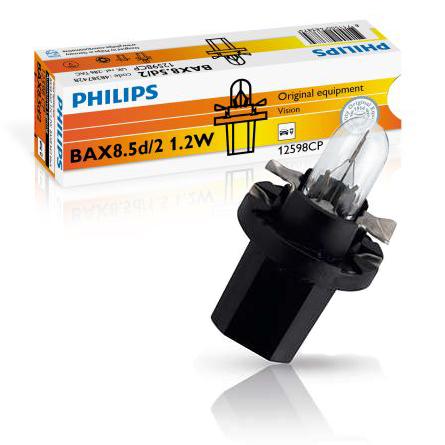 philips bax 1 2w 12v black vision 10st. Black Bedroom Furniture Sets. Home Design Ideas