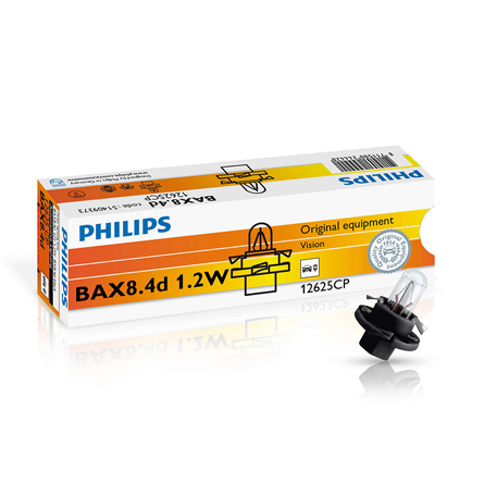 philips bax 1 2w 12v schwarz black 10 st ck. Black Bedroom Furniture Sets. Home Design Ideas