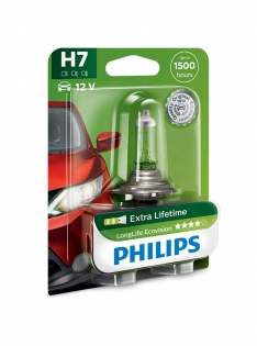 H7 12V 55W PX26d LongLife EcoVision 1st. Blister Philips 12972LLECOB1