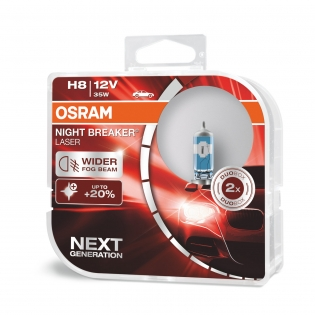 H8 12V 35W PGJ19-1 NIGHT BREAKER® LASER Next Generation +150% 2 St. Osram