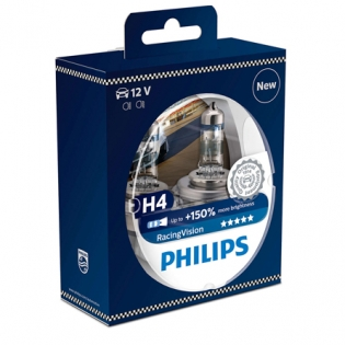 H4 12V 60/55W P43t Racing Vision +150% 2st. Philips 12342RVS2