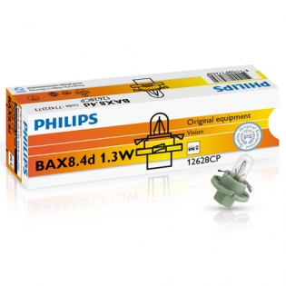 BAX BX8.4d 1.3W 12V Olive Green 10st. Philips 12628CP