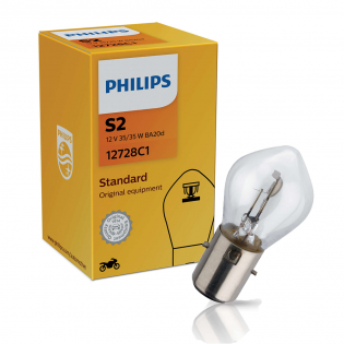 S2 Original Equipment 12V 35/35W BA20d 1st. Philips