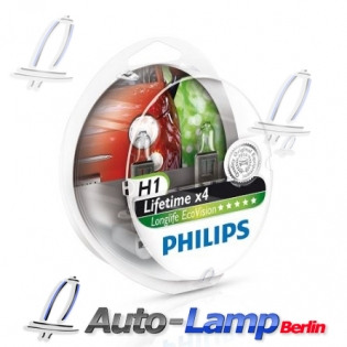 H1 12V 55W P14,5s LongLife EcoVision 2st. Philips 12258LLECOS2