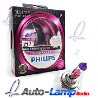 H7 12V 55W PX26d ColorVision purple +60% 2st. Philips 12972CVPP