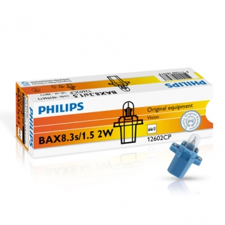 BAX BAX8.3s/1.5 2W 12V Blue 10st. Philips 12602CP