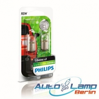 R5W 12V 5W  BA15s LongLife EcoVision 2st. Blister Philips 12821LLECOB2