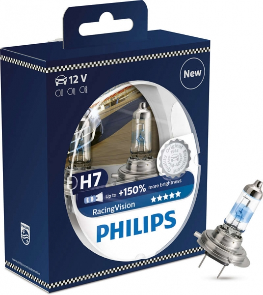 H7 12V 55W PX26d RacingVision +150% 2st. Philips 12972RVS2